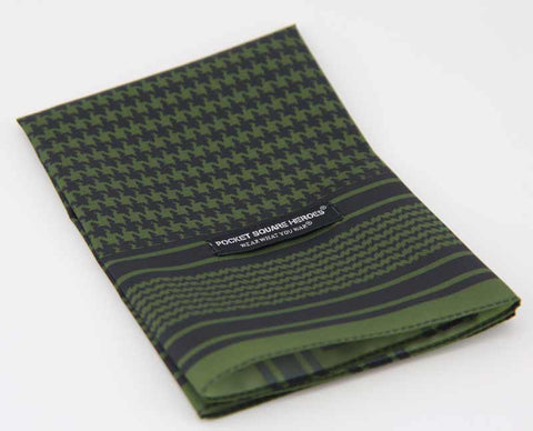 Shemagh Pocket Square - Olive