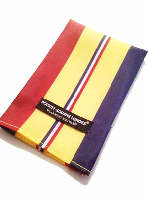 Navy Marine Corps Combat Action Ribbon Pocket Square