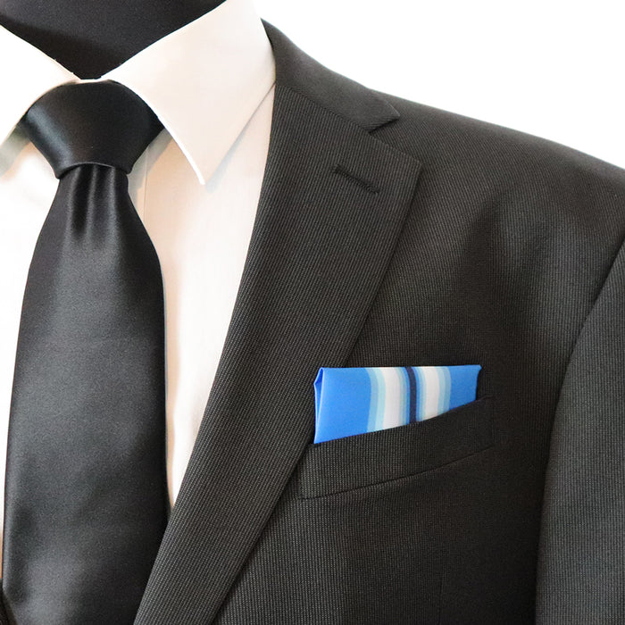 Navy Arctic Service Ribbon Pocket Square