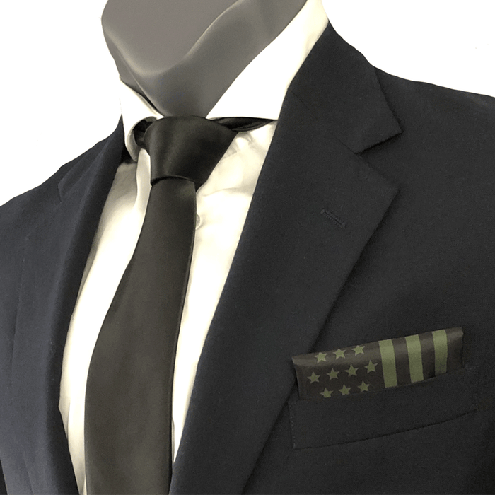OD Green American Flag Pocket Square
