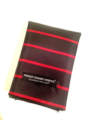 Thin Red Line Fire Fighters Pocket Square