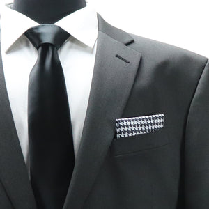 Shemagh Pocket Square - Black White