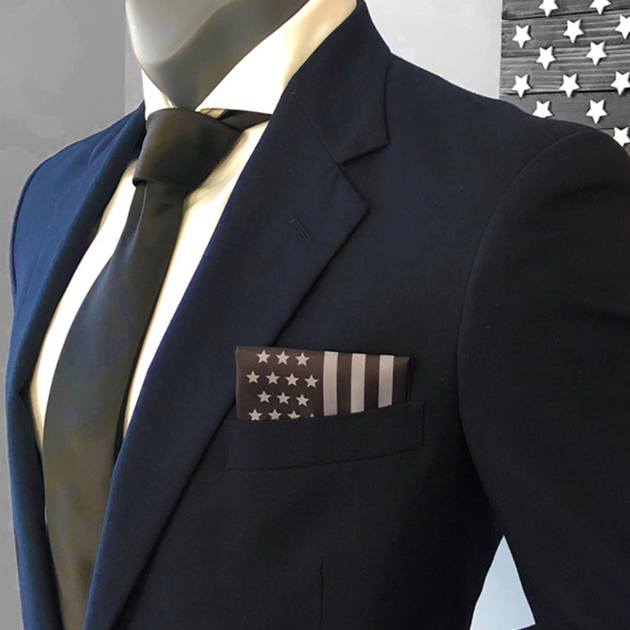 American Flag Subdued Pocket Square