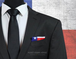 Texas Flag Pocket Square, Texas Strong