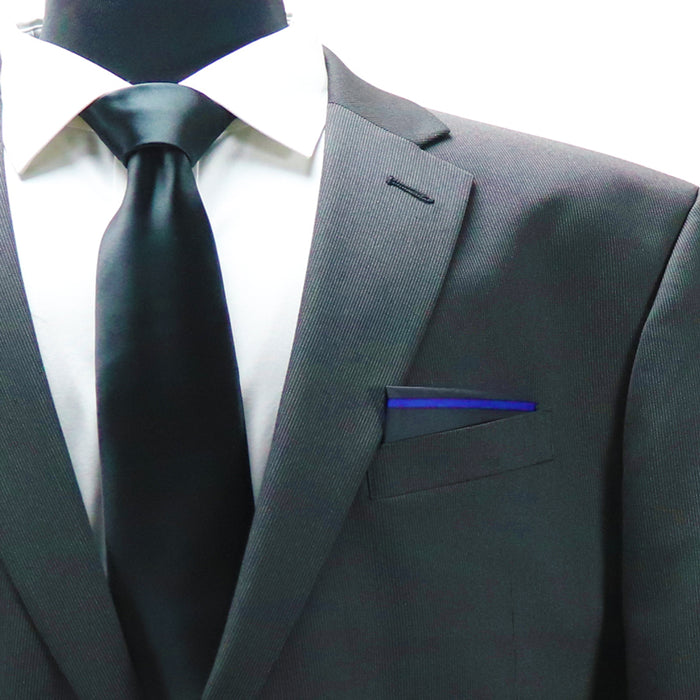 Thin Blue Line Law Enforcement Pocket Square