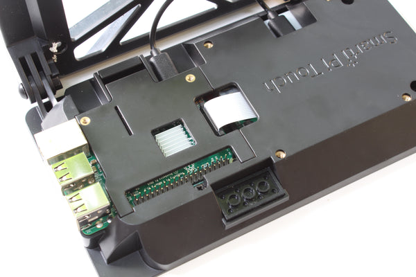 A small hole on the back door can be cut out for heat sinks