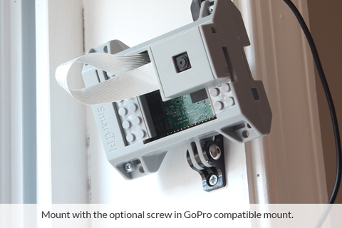 Works with optional screw in GoPro mount