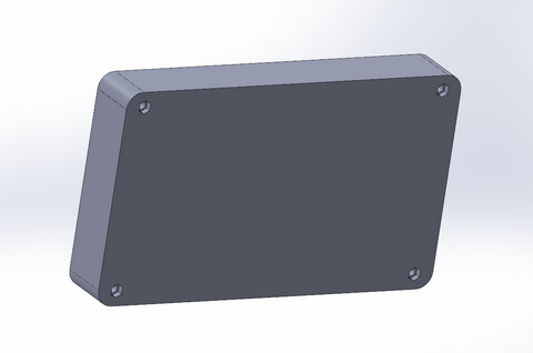 SmartiPi Touch 2 Bottom enclosure - Downloadable CAD file