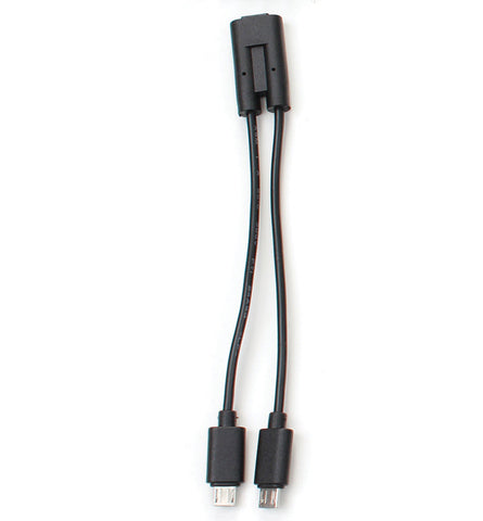 Micro USB splitter cable