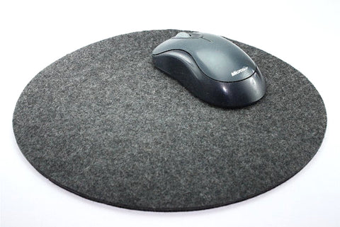 "10"" Round Mouse Pad in 5mm Thick Virgin Merino Wool Felt"