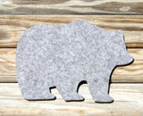 wool felt coasters bear