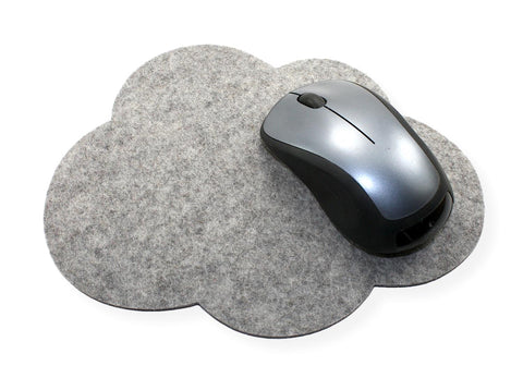 Cloud Mouse Pads in 5mm Thick Virgin Merino Wool Felt
