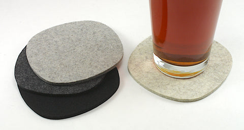 Cobblestones II Wool Felt Coasters 5mm Thick