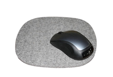 Cobblestone Mouse Pads in 5mm Thick Virgin Merino Wool Felt