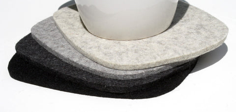 Cobblestones Oversized Drink Coasters in 5mm Thick Merino Wool Felt
