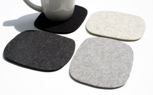 Cobblestones Oversized Wool Felt Coasters in 5mm Thick