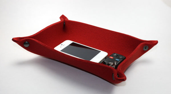 Rectangle Valet Tray in 5mm Thick Virgin Merino Wool Felt