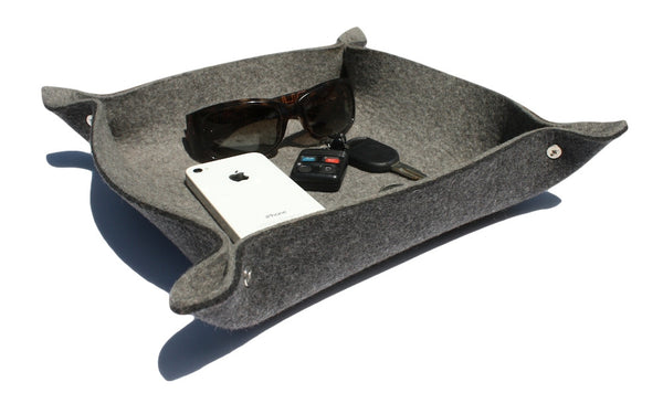 Square Valet Tray in 5mm Thick Virgin Merino Wool Felt