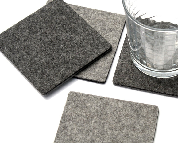 square wool felt coasters