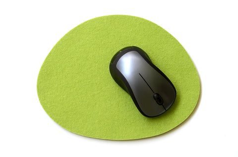 Pebble Mouse Pads in 5mm Thick Virgin Merino Wool Felt
