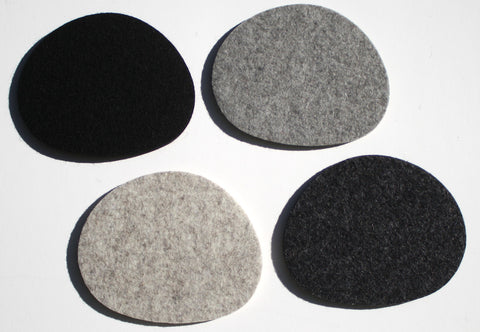 Pebbles Wool Felt Coasters 5mm Thick