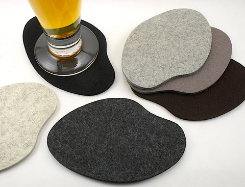 Secret Pond Wool Felt Coasters 5mm Thick