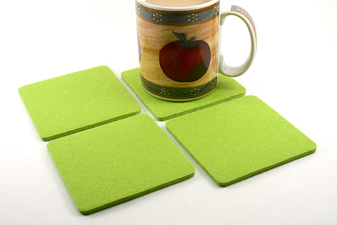 Elegant Cut Square Wool Felt Coasters 5mm Thick