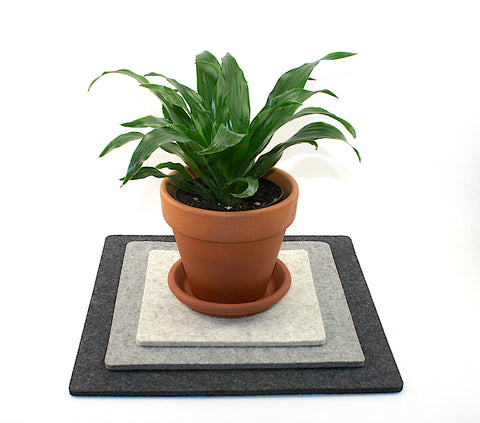 Square Merino Wool Felt Trivet Set