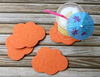 wool felt coasters cloud