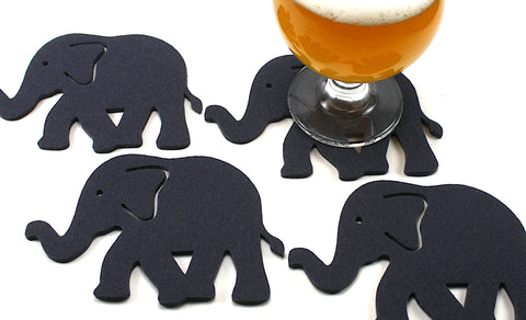 Elephant Wool Felt Coasters 5mm Thick