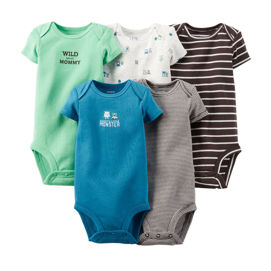 Pack de Bodys CARTERS 5-Pack Short-Sleeve Bodysuits