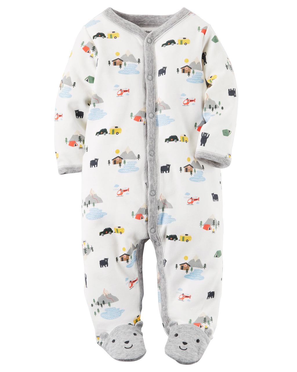 Enterito CARTERS Cotton Snap-Up Sleep & Play
