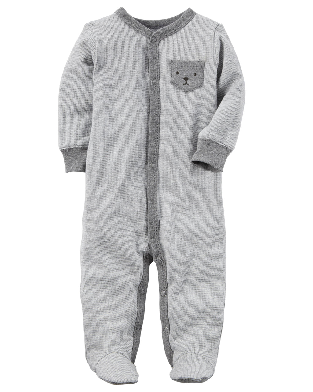 Enterito CARTERS Bear Snap-Up Thermal Sleep & Play