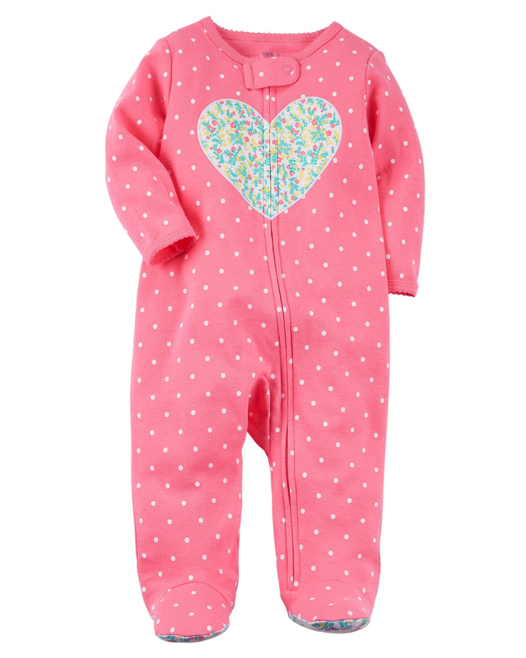 Enterito CARTERS Zip-Up Heart Cotton Sleep & Play