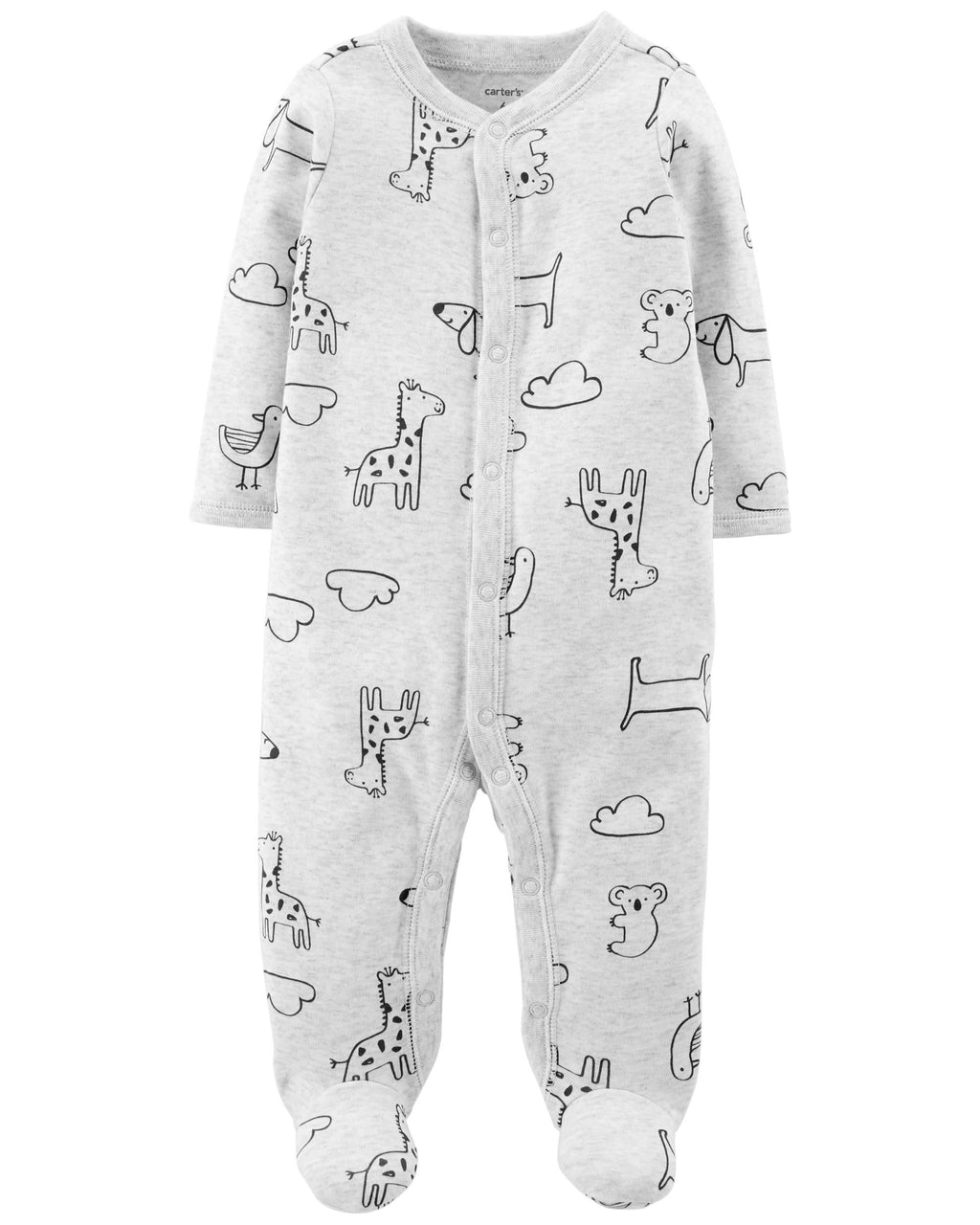 Enterito CARTERS Animal Snap-Up Cotton Sleep & Play