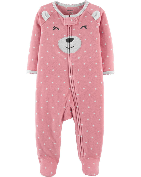 Enterito CARTERS Bear Zip-Up Fleece Sleep & Play