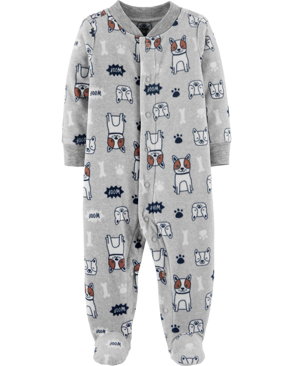 Enterito CARTERS Dog Snap-Up Fleece Sleep & Play Micropolar