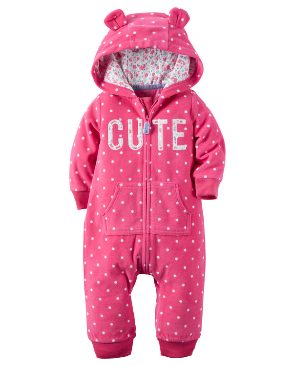 Enterito CARTERS Hooded Fleece Jumpsuit Micropolar