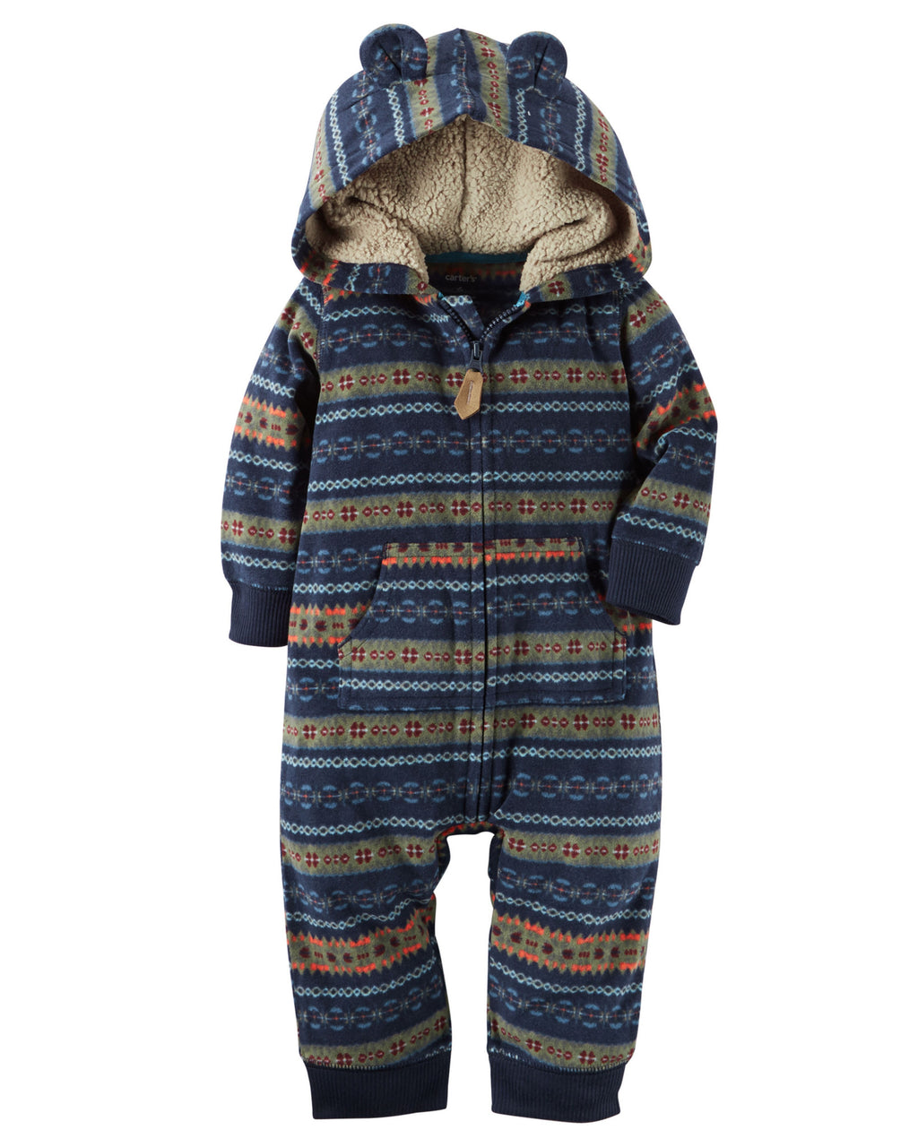 Enterito CARTERS Hooded Fleece Jumpsuit