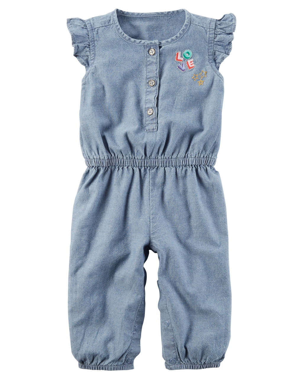 Enterito CARTERS Flutter-Sleeve Chambray Jumpsuit