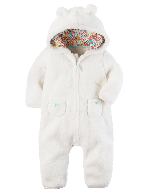 Enterito CARTERS Hooded Sherpa Jumpsuit
