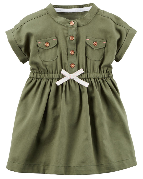 Vestido CARTERS Double Pocket Twill Shirt Dress