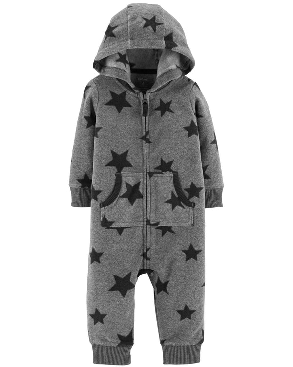 Enterito CARTERS Star Hooded Fleece Jumpsuit
