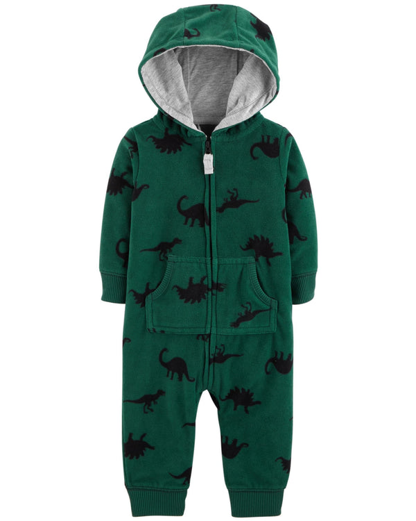 Enterito CARTERS Dinosaur Hooded Fleece Jumpsuit