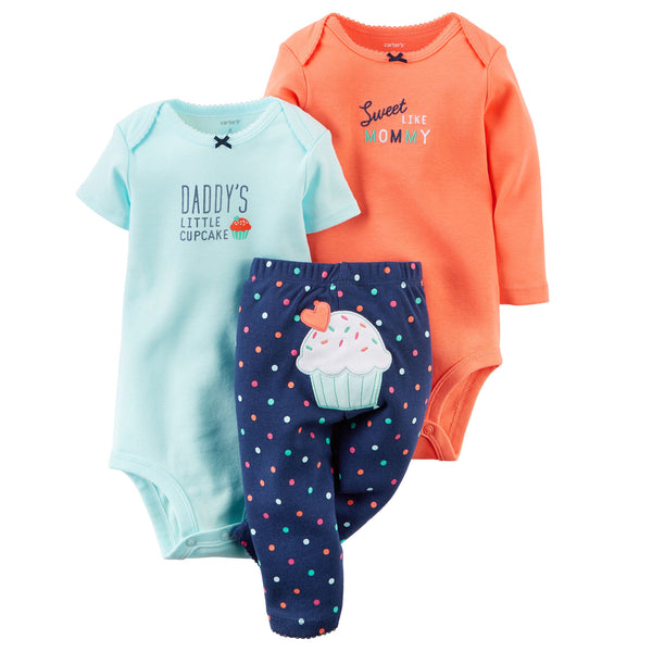 Conjunto CARTERS 3-Piece Bodysuit & Pant Set