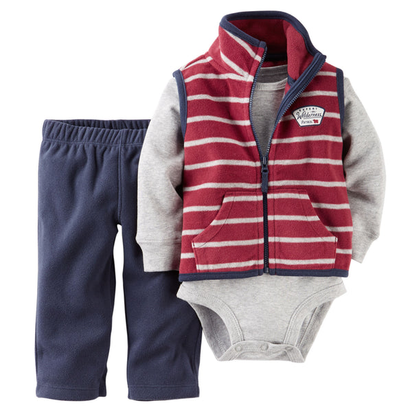 Conjunto CARTERS 3-Piece Vest Set