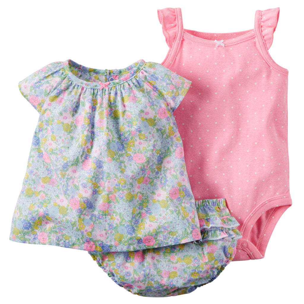 Conjunto CARTERS 3-Piece Bodysuit & Diaper Cover Set