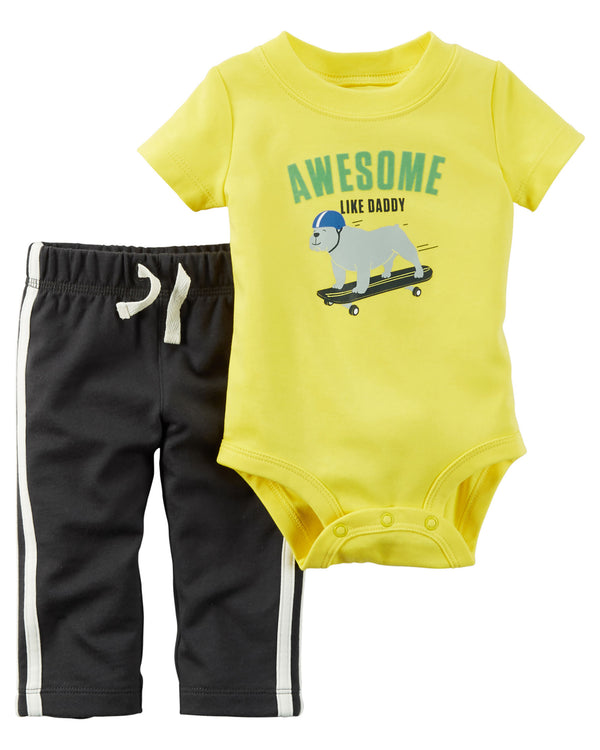 Conjunto CARTERS 2-Piece Bodysuit & Pant Set