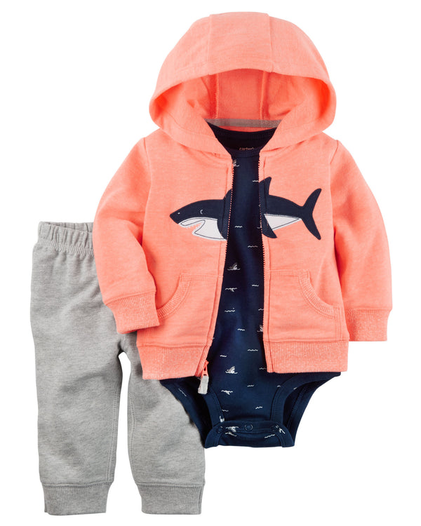 Conjunto CARTERS 3-Piece Neon Little Jacket Set