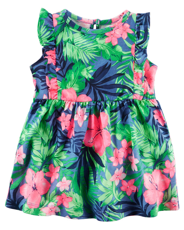 Vestido CARTERS Floral Jersey Dress